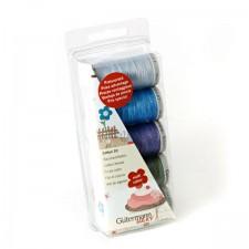 Borduurgarenset Cotton 30 blauw/groen