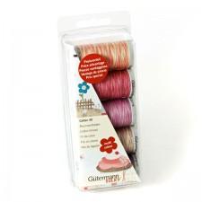 Borduurgarenset Cotton 30 roze/paars
