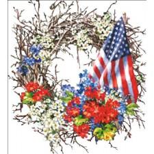 Patriotic Wreath Max Colors NO BK