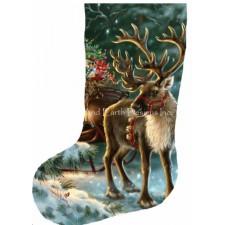 Stocking The Enchanted Christmas Reindeer Reversed