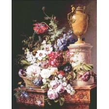 Still Life on Marble Pedestal Max Colors
