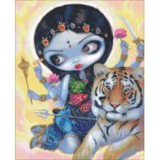 Mini Durga And The Tiger