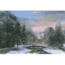 Snow Scene Sunset