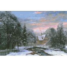 Supersized Snow Scene Sunset