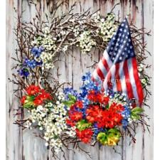 Patriotic Wreath NO BK