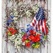 Supersized Patriotic Wreath NO BK