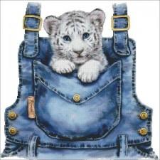 Mini Pocket White Tiger
