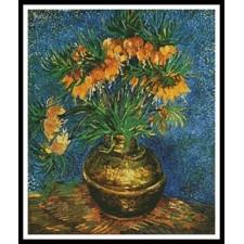 Fritillaries in a Copper Vase - #11286