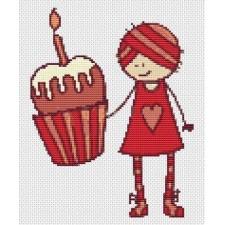 Mary Jane Series - Cupcake Girl (Mini Chart)