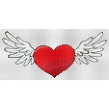Valentine Series - Winged Heart (Mini Chart)