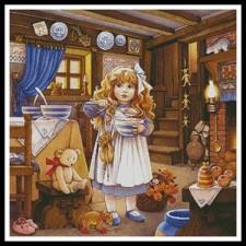 Goldilocks Painting - #11319-PFLD