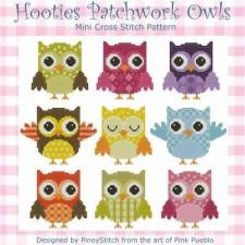 Hooties Patchwork Owls