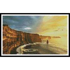 Waves Crashing on Rocky Cliffs, Ireland - #11354
