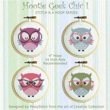 Stitch & a Hoop Pattern:Hooties Geek Chic I