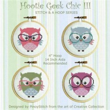 Stitch & a Hoop Pattern: Hooties Geek Chic III