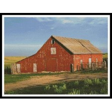 Red Barn on a Farm - #11368