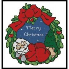 Sleeping Santa Wreath - #11375