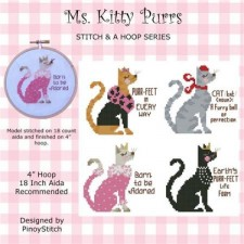 Stitch & a Hoop Pattern: Ms. Kitty Purrs