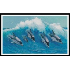 Leaping Dolphins - #11396-MGL