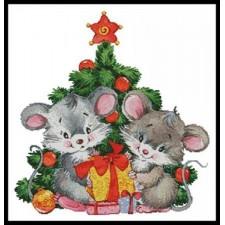Cute Christmas Mice - #11398-LF