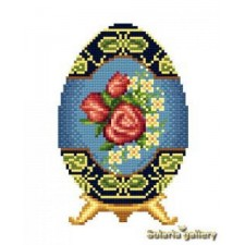 Easter Egg with Rose Motif