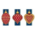 Red Faberge Christmas Ornaments Collection 1 (3 designs)