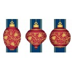 Red Faberge Christmas Ornaments Collection 2 (3 designs)
