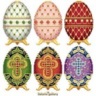 Easter Eggs in Faberge Style - Collection 1