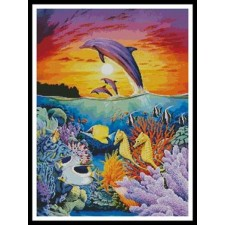 Dolphins and Seahorse - #10162-MGL
