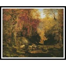 Woodland Interior with Rocky Stream - #10165