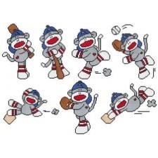 Baseball Sock Monkeys