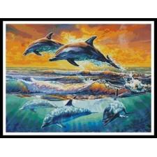Dolphins at Dawn - #10290-MGL