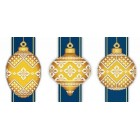 Yellow Faberge Christmas Ornaments Collection 3 (3 designs)