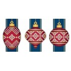 Red Faberge Christmas Ornaments Collection 4 (3 designs)