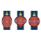Red Faberge Christmas Ornaments Collection 5 (3 designs)