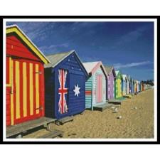 Bathing Boxes at Brighton Beach - 10300