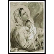 Mary and Baby Jesus (Sepia) - #10453