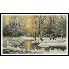 Golden Winter Lake - #10459