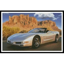 Sports Car with Mountains - #10461