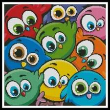 Cartoon Birds Cushion - #10463