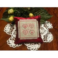 Four Hearts Pincushion