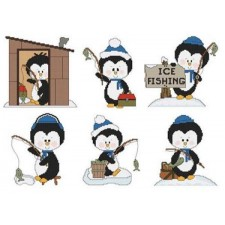 Ice Fishing Penguins