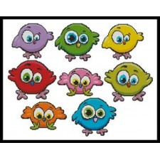 Cartoon Birds Singles - #10483