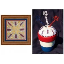 Patriotic Pincushion #023
