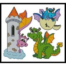 Cute Dragon Set - #10501