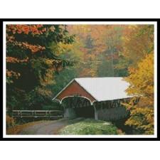 Autumn Covered Bridge - #10527