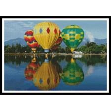 Hot Air Balloons Reflection - #10545