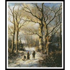 Wood Gatherers in a Winter Forest - #10569