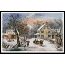 American Homestead in Winter - #10668