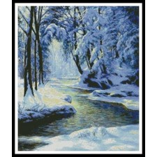 Snowy Landscape with Brook - #10696
